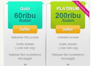Harga - Jejualan- Software Website Toko Online Gratis